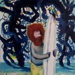 """unknow sea tree"" 25x30cm oil on canvas 2020 price : 145€"