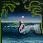 """start of summer"" 35x35cm oil on canvas 2020 price : 175€"