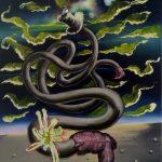 """""""desert twist"""" 30x40cm oil on canvas 2020 price : 190€"""