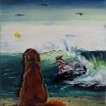 """beach break"" 30x35 oil on canvas 2020 price : 175€"